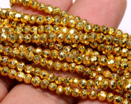 53.00 - CTS FACETED PYRITE  BEADS STRAND NP-2835
