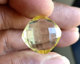 Natural Lemon Quartz Gemstone Checkered Cut VA4570