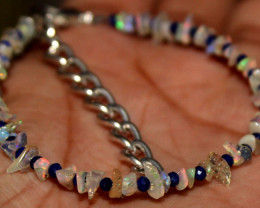 13 Crt Raw Opal & Lapis Bracelet 39