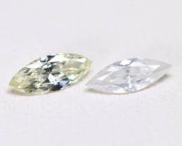 Diamond 0.19Ct 2Pcs Natural Untreated Genuine Fancy Diamond B314