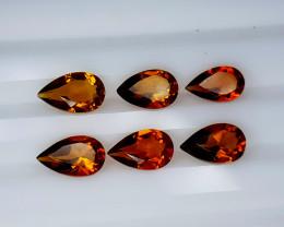 4Crt Madeira Citrine Lot Natural Gemstones JI02