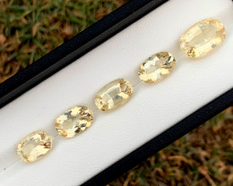 16.75 Carats Natural HELIDOR Beryl Gemstones Lot