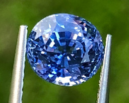 2.22 ct Cornflower Sapphire with Excellent luster and Fine Cutting Gemstone