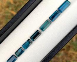 9.00 cts Blue Tourmaline Gemstones Lot