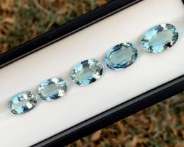 17.30 Carats Natural Aquamarine Gemstones Lot