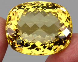 104.23  ct. Top Quality Natural Golden Yellow Citrine Brazil Unheated