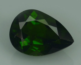 2.05 CTS NATURAL UNHEATED  GREEN CHROME DIOPSIDE PEAR EXCELLENT~