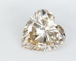 0.78 cts ,  Rarest Fancy Color Diamond , Valentine's special Heart Brillian