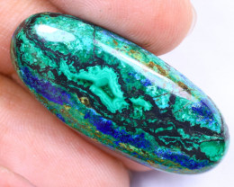 27.68cts Natural Earth Stone Azurite Malachite / MA1460