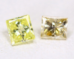 0.17Ct Princess Natural Untreated Genuine Fancy Diamond B371