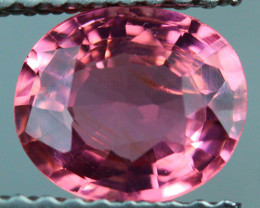 1.12 CT 7X6 MM Excellent Cut AAA Mozambique Pink Tourmaline-PTA723