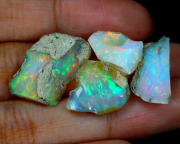Welo Rough 26.59Ct Natural Ethiopian Play Of Color Rough Opal B0904