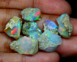 Welo Rough 24.66Ct Natural Ethiopian Play Of Color Rough Opal B0913