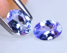 1.44cts Natural D Block Tanzanite Pairs Stone / KL966