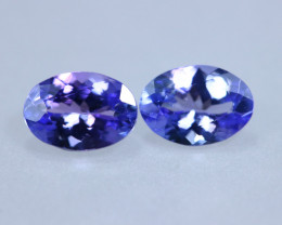 1.50cts Natural D Block Tanzanite Pairs Stone / KL968