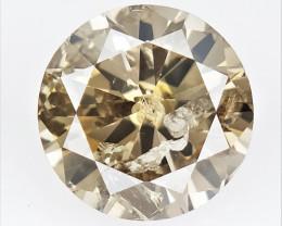 0.51 CTS , Round Color Diamond , Round Cut Diamond