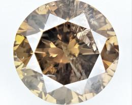 0.68 cts , Round Color Diamond , Round Cut Diamond