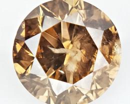 0.53 CTS , Round Color Diamond , Round Cut Diamond