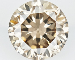 0.35 CTS , Round Color Diamond , Round Cut Diamond