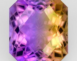 14.68 CT BOLIVIAN AMETRINE MASTER CUT GEMSTONE AT3