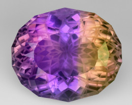 16.93 CT BOLIVIAN AMETRINE MASTER CUT GEMSTONE AT7