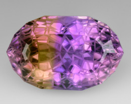 19.88 CT BOLIVIAN AMETRINE MASTER CUT GEMSTONE AT15