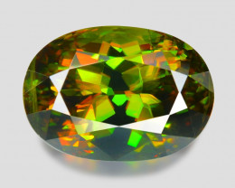 5.32 Ct Chrome Sphene Exceptional Color Pakistan Sph13