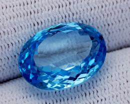12.85CT BLUE TOPAZ BEST QUALITY GEMSTONE IIGC08