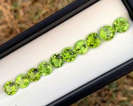 15.20 cts Olivine Green Peridot Gemstone Lot