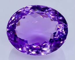 17.00 Crt Natural Amethyst  Faceted Gemstone.( AB 99)