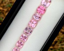 8.65 Carats Natural Asscher Cut Tourmaline Gemstones