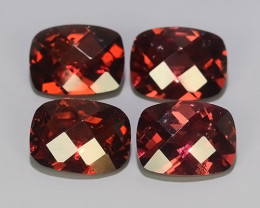 6.40 CTS~EXCELLENT~NATURAL RHODOLITE CHECKER BROAD NICE QUALITY GOOD COLOR