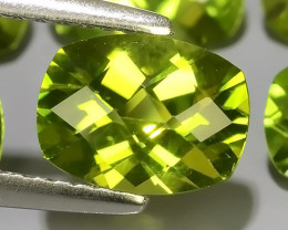 7.80 CTS~GENUINE NATURAL GREEN PERIDOT CUSHION PARCEL 6 PCS~ECELLENT!!