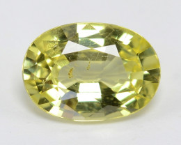 Chrysoberyl 1.04 Cts Very Rare Lime Green Color Natural Gemstone