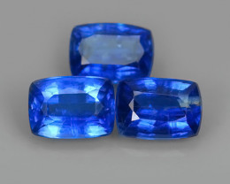 3.50 CTS EXCELLENT CORN FLOWER BLUE KYANITE CUSHION GEM!