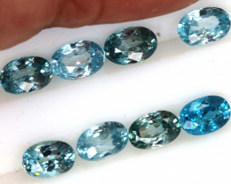 7 CTS  BLUE ZIRCON FACETED STONE (8 PCS)   PG-1405