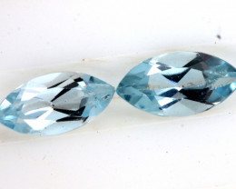 1.55 CTS AQUAMARINE FACETED ( 2 PCS)   PG-1409