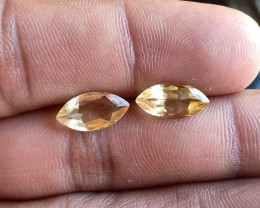 Citrine Gemstone Pair 100% Natural Gemstone VA4645