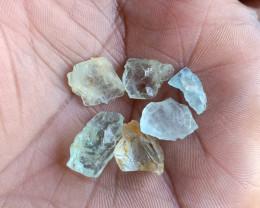 25 Ct Aquamarine Gemstone Rough Package  Natural Gemstone VA4661