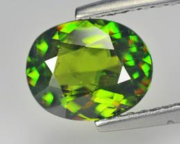 pakistan Sphene 1.42 Cts Chrome Green Portuguese Cut BGC621