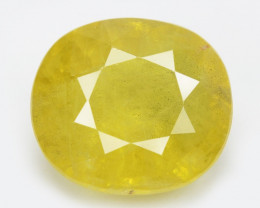 Ceylon Sapphire 3.21 Cts Amazing Rare Natural Fancy Yellow Loose Gemstone