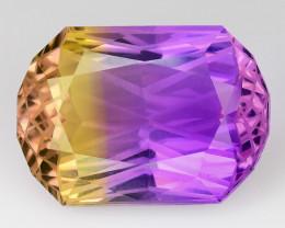 11.08 Cts Bolivian Ametrine Stunning Luster & Cut Gemstone  AMT1