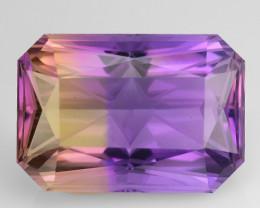 18.89 Cts Bolivian Ametrine Stunning Luster & Cut Gemstone  AMT11