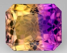 14.04 Cts Bolivian Ametrine Stunning Luster & Cut Gemstone  AMT17