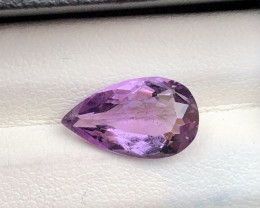 AAA Grade 2.90 ct Natural Pair Shape Amethyst