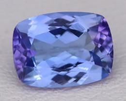 Tanzanite 1.56Ct VVS Master Cut Natural Purplish Blue Tanzanite A1005