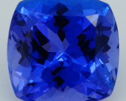 2.46CT 8X8MM AAAA Excellent Cut Rare Violet Blue Tanzanite - TN80