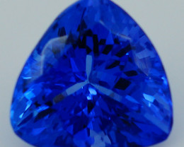 $500 1.98CT 8X8MM AAAA Excellent Cut Rare Violet Blue Tanzanite -TN84