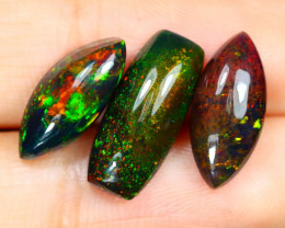5.87Ct Natural Smoked Ethiopian Play Color Black Smoked Opal Lot B1002