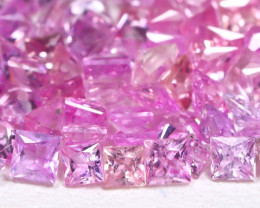 5.24Ct Princess 2.3mm Natural Untreated Pink Color Sapphire Lot B1008